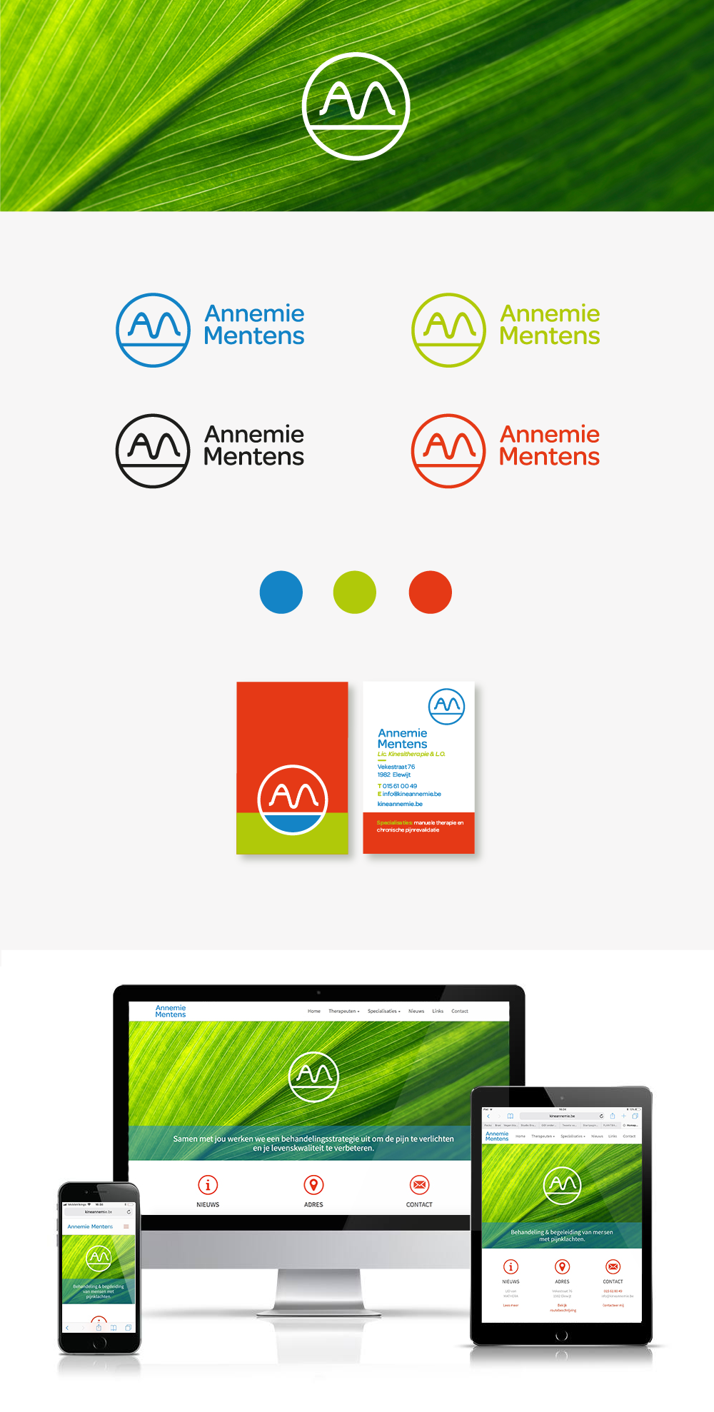Annemie Mentens branding logo design